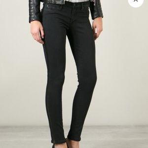 Hudson Ava super skinny crop black tuxedo, size 25
